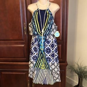 NWT large Body Central bright and colorful dress.